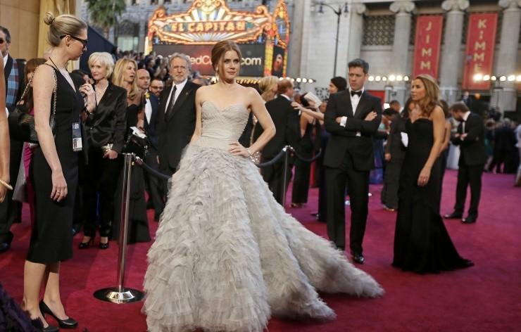 Amy Adams alfombra roja oscars 2013