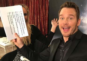chris pratt y jennifer lawrence